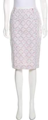 Nina Ricci Knee-Length Lace Skirt