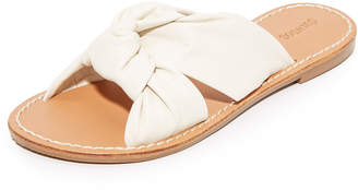 Soludos Knotted Slide Sandals $99 thestylecure.com