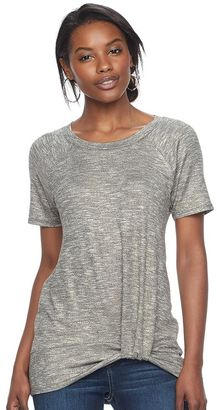 Women's Juicy Couture Marled Twist Tee $40 thestylecure.com