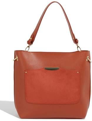Oasis Womens Orange Sadie Ring Hobo Bag - Orange