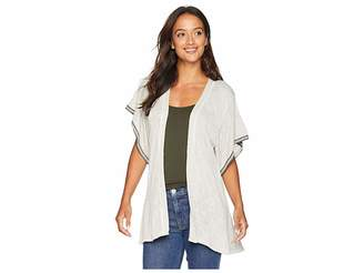 Bobeau Flutter Sleeve Cardigan Women's Sweater
