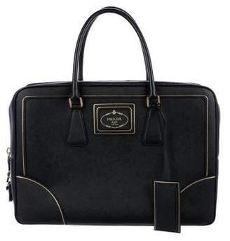 Prada Saffiano Oro Briefcase