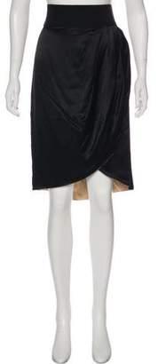 Adam Silk Knee-Length Skirt