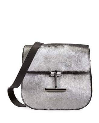 Tom Ford Tara Laminated Calf Hair Shoulder Bag
