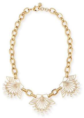 Lulu Frost Alesia Pearly Geometric Station Necklace $388 thestylecure.com