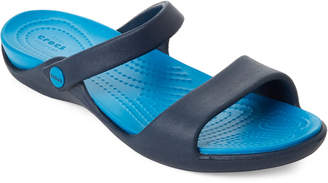 Crocs Navy Cleo Slide Sandals