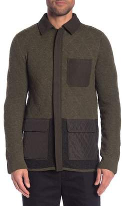 Scotch & Soda Wool Blend Zip Front Cardigan Jacket
