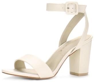 Unique Bargains Women's Slingback Ankle Strap High Heels Sandals