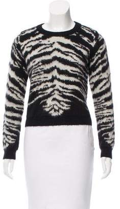 Saint Laurent Patterned Mohair Sweater