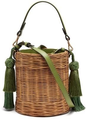 Wai Wai - Sabia Wicker Bucket Bag - Womens - Green Multi