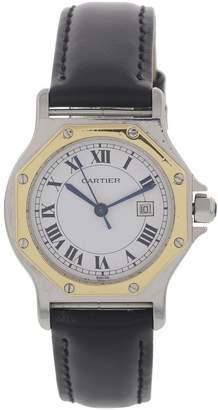 Cartier Vintage Santos Ronde Black gold and steel Watches