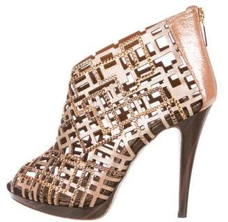 Rene Caovilla Strass Cage Ankle Boots w/ Tags