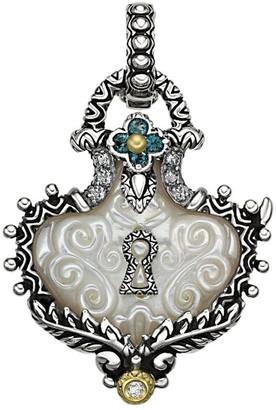 Barbara Bixby Sterling/18K Carved Lock Charm