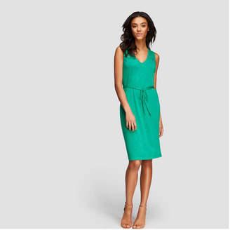 Joe Fresh Women's Lace Shoulder V-Neck Dress