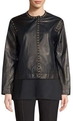 Donna Karan Loophole Leather Jacket