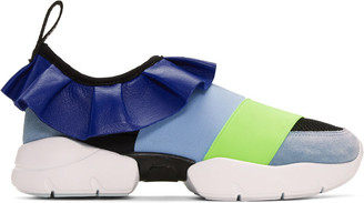 Emilio Pucci Blue Colorblock Sneakers $555 thestylecure.com