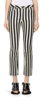 Marques Almeida Striped Satin Capri Pants
