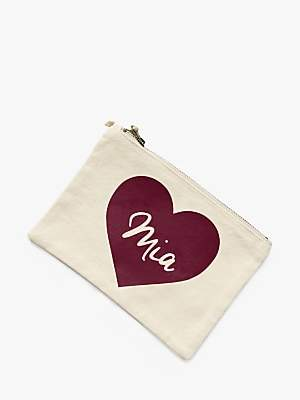 Jonny's Sister Personalised Heart Makeup Bag, Small