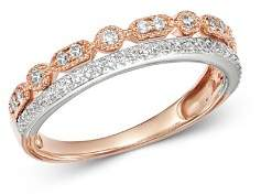 Bloomingdale's Diamond Two-Tier Band Ring in 14K White Gold & 14K Rose Gold, 0.25 ct. t.w. - 100% Exclusive