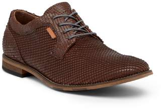 Bacco Bucci Zito Snake-Embossed Leather Derby