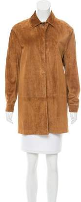 Loro Piana Long Sleeve Suede Jacket