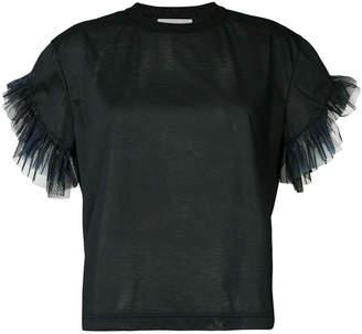 Kolor tulle sleeves T-shirt
