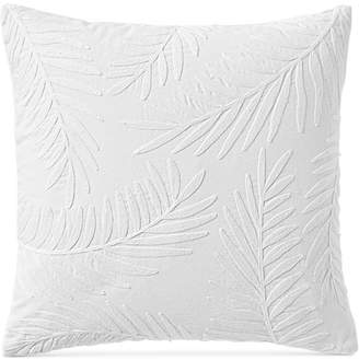 "Lucky Brand Palm Leaves 18"" x 18"" Decorative Pillow, Created for Macy's Bedding"