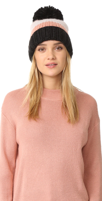 Kate Spade New York Chunky Knit Colorblock Beanie $58 thestylecure.com
