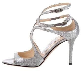Jimmy Choo Ivette Mid-Heel Sandals