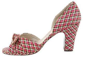 Robert Clergerie Clergerie Paris Bow-Accented d'Orsay Sandals