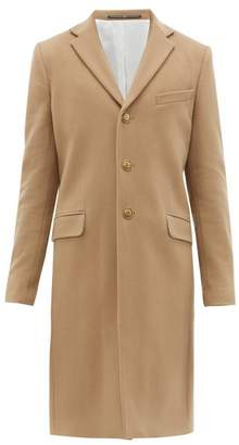 Givenchy Single Breasted Wool Blend Overcoat - Mens - Camel