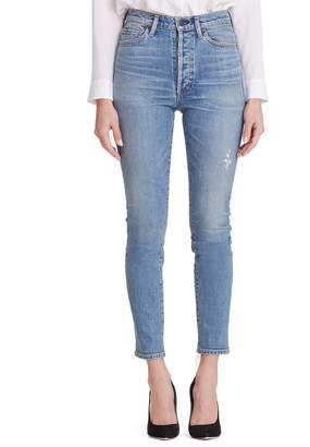 Citizens of Humanity Olivia High-Rise Slim Ankle Jeans w/ Button Fly
