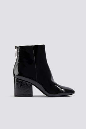 Steve Madden Break Ankle Boot Black Patent