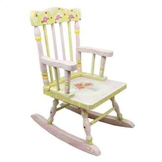 Fantasy Fields Kids Crackled Rose Rocking Chair