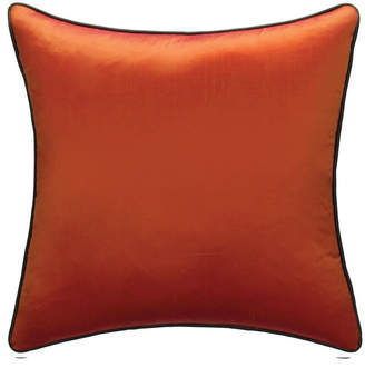 Andrew Martin Markham Tangerine Cushion With Chocolate Piping