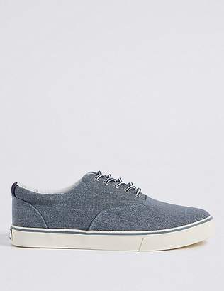 Marks and Spencer Big & Tall Canvas Lace-up Trainers