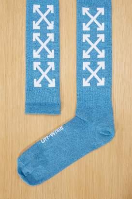 Off-White Off White Blue logo socks