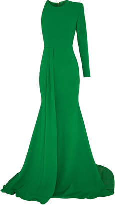 Alex Perry Julian One Shoulder Satin Crepe Gown