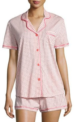 Cosabella Bella Printed Short-Sleeve Shorty Pajama Set $120 thestylecure.com