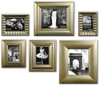 Badgley Mischka Home Lucine 6Pc Champagne Leaf Gallery Frame Set