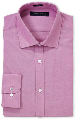 Tommy Hilfiger Frost Berry Solid Slim Fit Dress Shirt