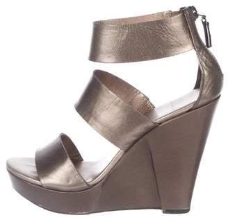 Diane von Furstenberg Leather Wedge Sandals