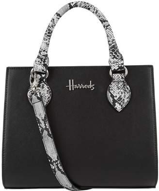 Harrods Mini Matilda Snake Print Grab Bag