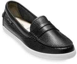 Saks Fifth Avenue Women's Pinch Weekender Leather Loafers - Black White - Size 6.5