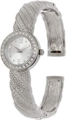 Diamonique Textured Bangle Watch