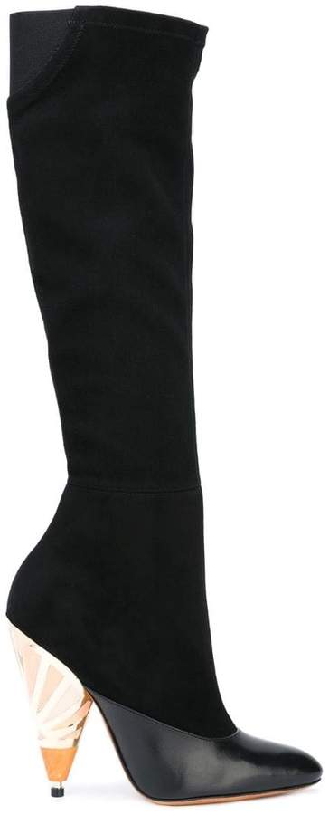 Givenchy painted heel knee high boots
