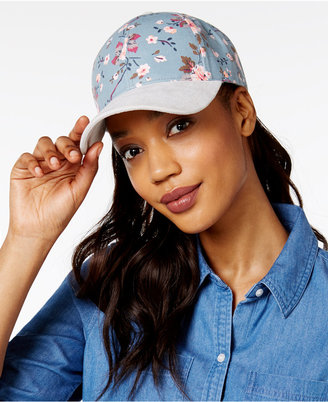 Collection XIIX Floral and Faux-Suede Baseball Cap $25 thestylecure.com
