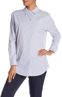 Scotch & Soda Striped Button Front Shirt with Necklace