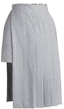 Rokh Women's Layered Kilt Knee-Length Skirt