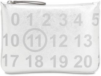 Maison Margiela Small Logo Embossed Pouch